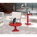 Mesa de Centro e Mesa Lateral Intense Vermelho - Patrimar