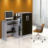 Mesa para Computador com Armário 2 Portas Super Office Cinza e Preto Patrimar