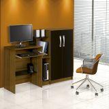 Mesa para Computador com Armário 2 Portas Super Office Imbuia e Preto Patrimar