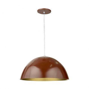 Pendente Meia Esfera D40 Chocolate e Ouro Pavilonis Pavilonis D40