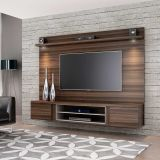 Estante para Home Theater Suspenso Fit Carvalho e Bege Permobili