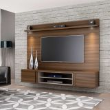 Estante para Home Theater Suspenso Fit Castanho e Bege Permobili