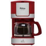 Cafeteira Eletrica Philco PH31 - Vermelho/Aco Escovado