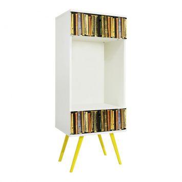 Estante Vertical 2 Gavetas Branco - 0780 Livros Phorman Phorman 0315.0015.0780.