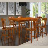 Conjunto de Mesa Irlanda com 6 Cadeiras Mel Acetinado - Piratini