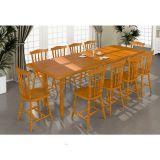 Sala de Jantar Completa Foz c/ 10 Cadeiras Mel Acetinado - Piratini