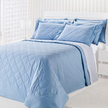 Colcha Matelasse - Royal Comfort - Queen - 03 Pçs - Azul Plumasul 891