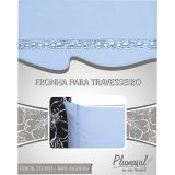 Fronha-Percal 233 Fios-Azul com Sianinha Azul-50X70