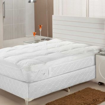 Pillow Top Fibra Siliconizada Em Flocos Solteiro 88X188 Plumasul Plumasul Pilow Top