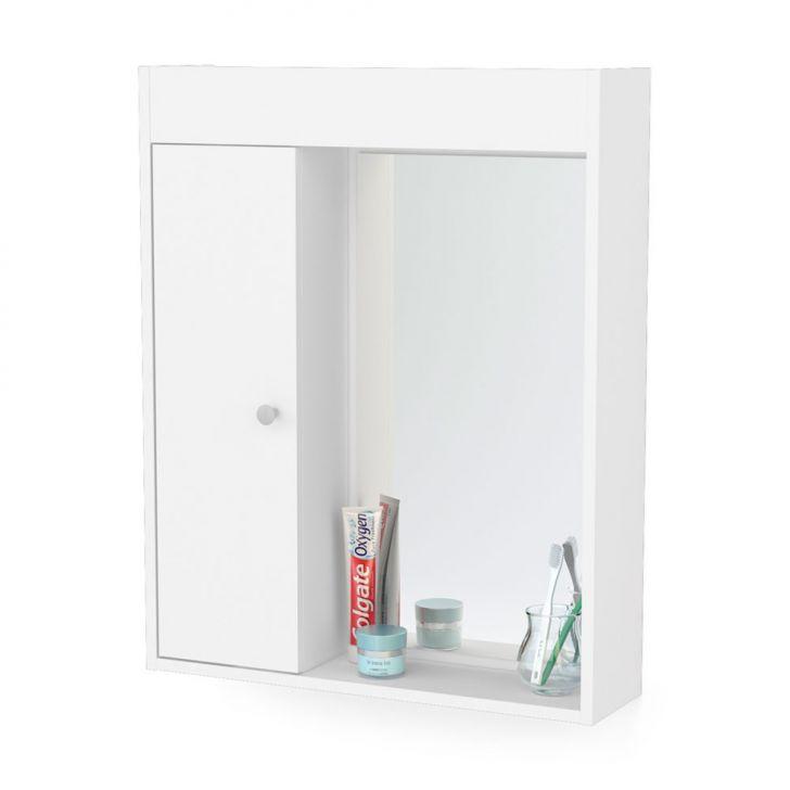 Armário Asti Aéreo para Banheiro Branco -> Armario Aero Banheiro
