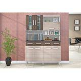 Cozinha Compacta Melissa 7 Portas - Amêndoa com Capuccino
