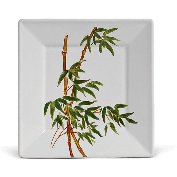 Prato Sobremesa Sobremesa Bambu 19 cm 6 pçs