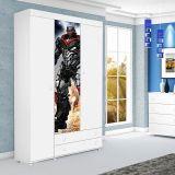 Guarda-Roupa Infantil 3 Portas Arco-Iris 05 Branco Potente Móveis
