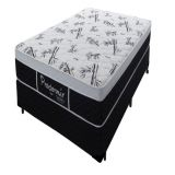 Conjunto Box Completo Solteiro Pro Dormir Probel Molejo Prolastic Black 88x188x055