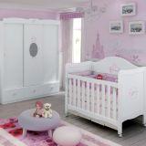 Berço Princesas Disney Baby Branco - Pura Magia