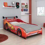 Cama Carros Disney Plus 5A Com Aerofolio Star 5A Vermelho Disney T2 Pura Magia