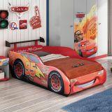Cama Carros Disney Star - 1A Com Aerofolio Star 5A  Vermelho Disney T2 Pura Magia