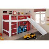 Cama Com Escorregador Hot Wheels Play - 5A Branco e Vermelho Mattel T4 Pura Magia
