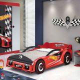 Cama Hot Wheels Premium - 5A Vermelho e Preto Acet T4 Pura Magia