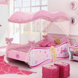Cama Infantil Barbie Star C/ Dossel 3A Barbie Rosa
