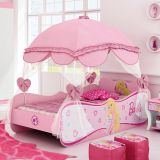 Cama Infantil Barbie Star C/ Dossel 4A Barbie Rosa