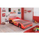 Cama Infantil Carros Disney Plus 4A C/ Aerofolio Vermelho Pura Magia