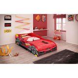 Cama Infantil Hot Wheels Plus 4A Vermelho 3A Pura Magia