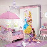Guarda Roupa Princesas Disney Star 4A Branco & Rosa Pura Magia