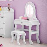 Penteadeira Com Banqueta Princesa Encantada Clean - 5A Branco Sl2 Acet Tg Pura Magia