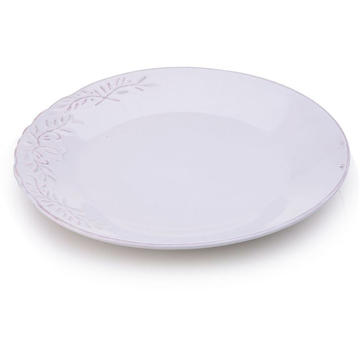 Prato de Sobremesa Capri 22 cm Branco