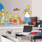 Adesivo de Parede - Modelo 141b- Simpsons - Família