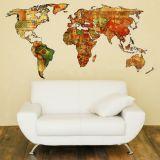 Adesivo de Parede - Modelo 347 - Mapa Mundi