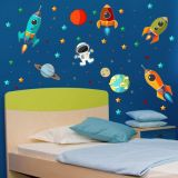 Adesivo decorativo de parede Astronauta 433c