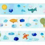 Faixa Decorativa- Border Aviões E Balões 784