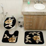 Kit Tapete de Banheiro Royal Luxury 3 Peças Rln 101 Preto Rayza