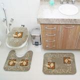 Kit Tapete de Banheiro Royal Luxury 3 Peças Rln 102 Verde Rayza