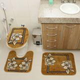 Kit Tapete de Banheiro Royal Luxury 3 Peças Rln 103 Caramelo Rayza