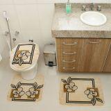 Kit Tapete de Banheiro Royal Luxury 3 Peças Rln 103 Creme Rayza