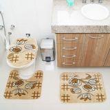 Kit Tapete de Banheiro Royal Luxury 3 Peças Rln 104 Creme Rayza