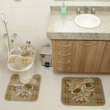 Kit Tapete de Banheiro Royal Luxury 3 Peças Rln 104 Verde Rayza