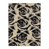 Tapete Veludo Rosas 148x200 cm Bege