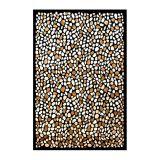 Tapete de Veludo Marbella Pedras 248 X 350 Preto