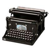 Enfeite Maquina De Escrever Continental Preto