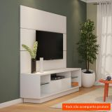 Painel para TV Supreme 180 cm Branco Maderado Robel Móveis