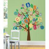 Adesivo Árvore de Letras - Colorido