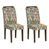 Conjunto 2 Cadeiras Athenas Wengue Com Suedi Medalhao