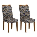 Conjunto 2 Cadeiras Athenas Ype Com Imperial Azul