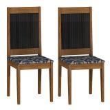 Conjunto 2 Cadeiras Bari Ype e Eba Imperial Azul