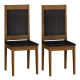 Conjunto 2 Cadeiras Bari Ype e Eba Suedi Preto