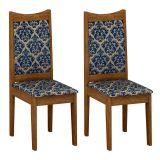 Conjunto 2 Cadeiras Diamante Ype Com Imperial Azul